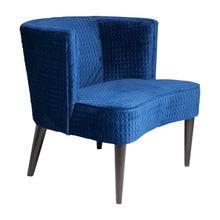 Pittsburgh Chair Blue Quilted