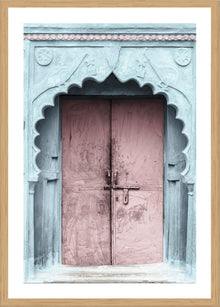 Pink Door Photographic Print with Frame