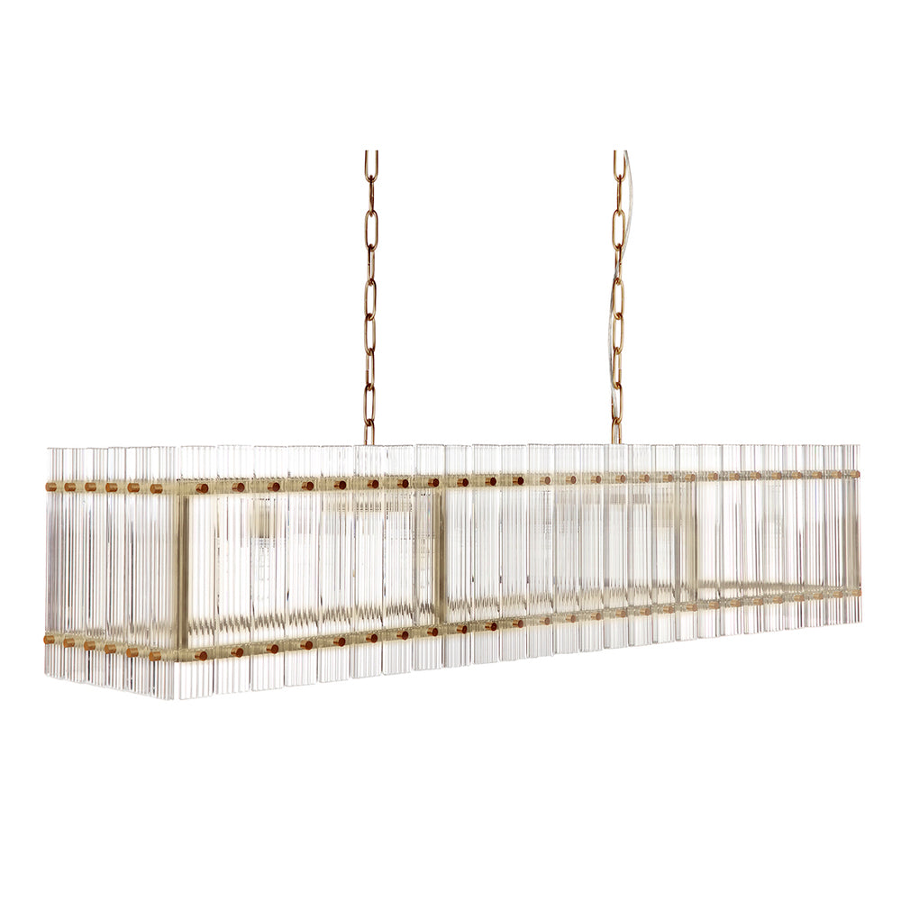 Carlos Chandelier Long Brass
