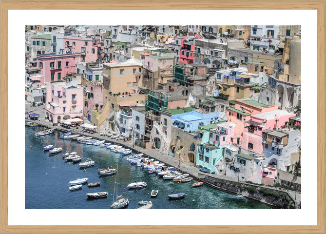 Napoli Marina Photographic Print with Frame