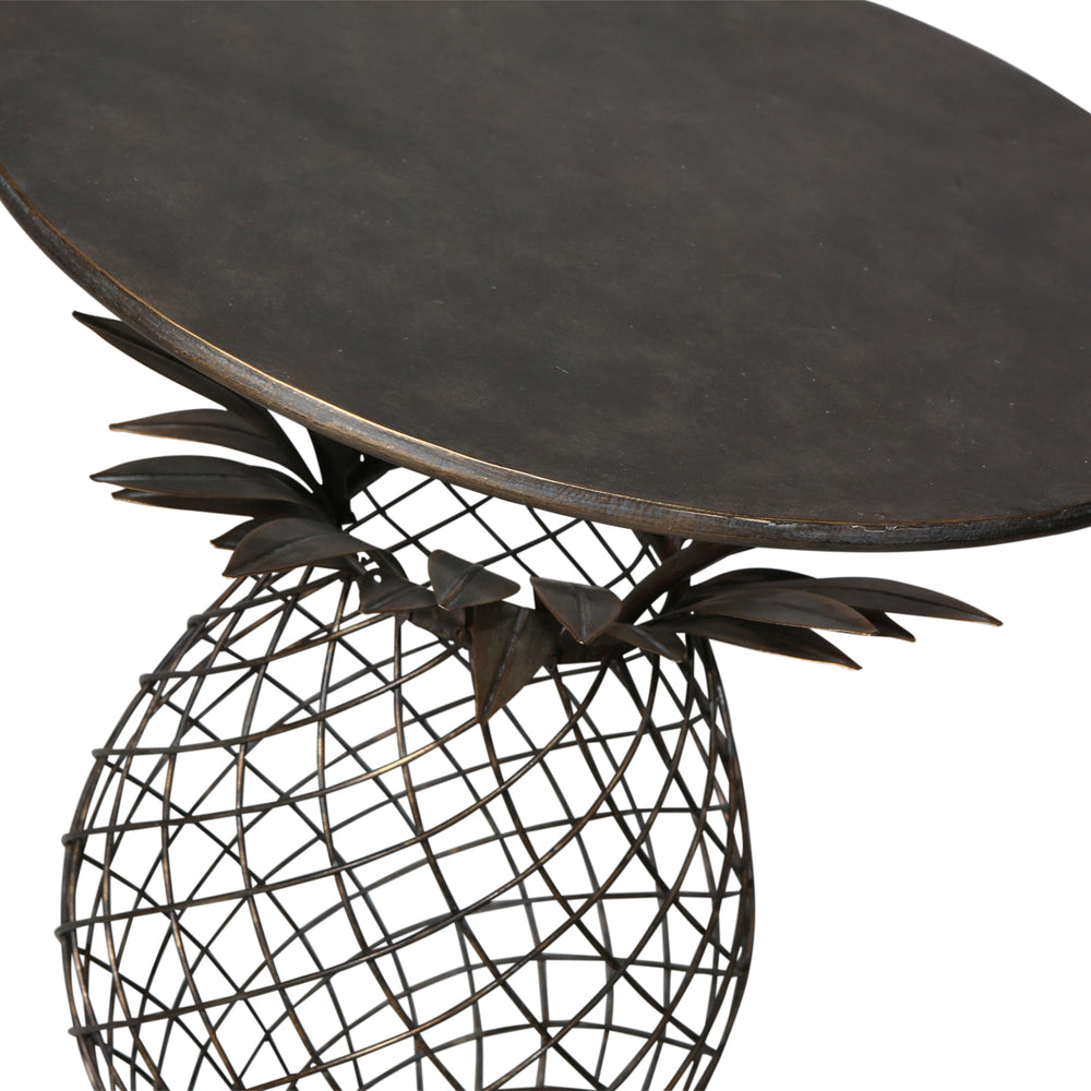 Iron Pineapple Side Table