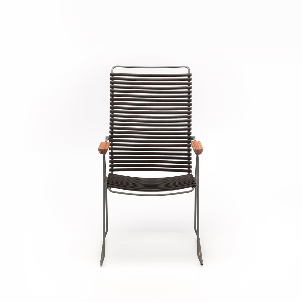 Click Position Outdoor Dining Chair Black