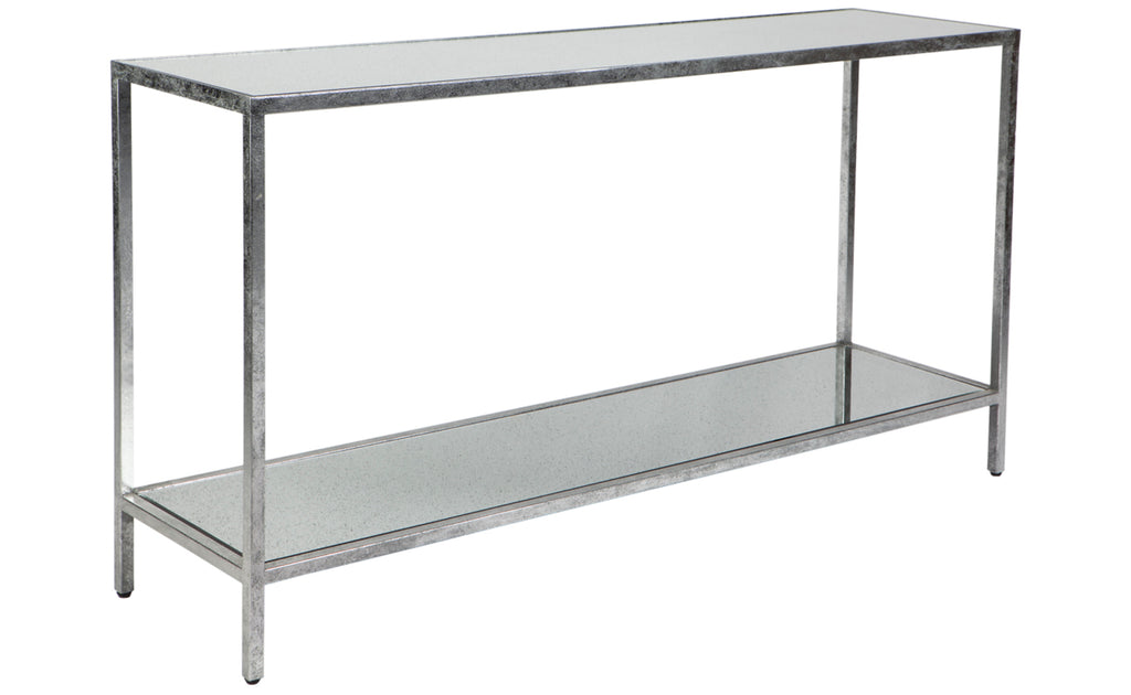 Cocktail Console Table Antique Silver