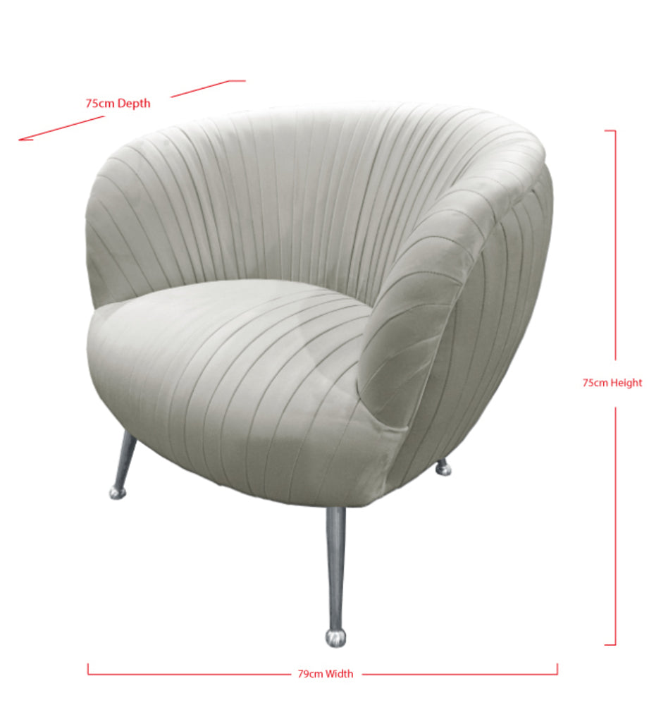 Perugia Arm Chair Silver Grey