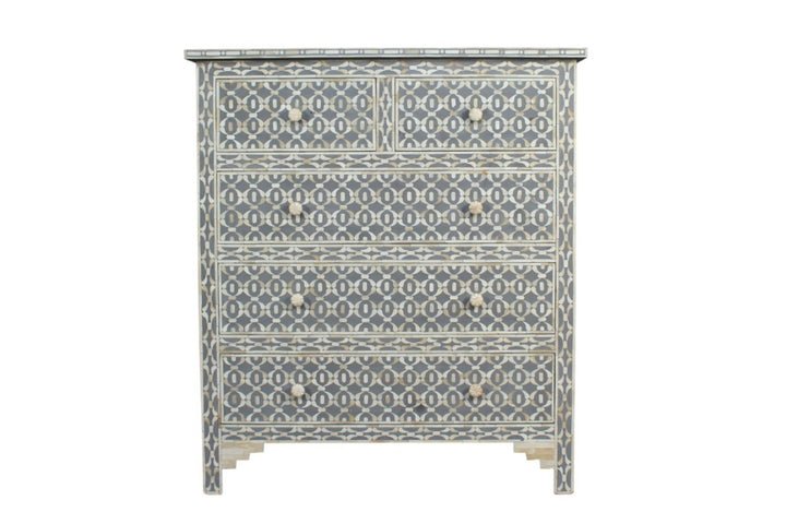 Bone Inlay Harmony Tallboy Chest