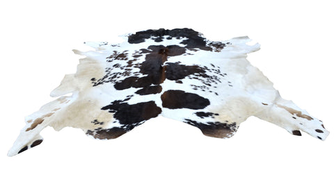 Exotic Large Cow Hide Rug Black And White
