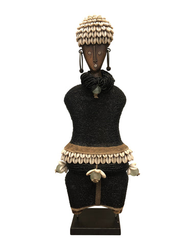 Ndamji Beaded Doll Wide Black