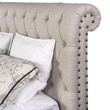 Empire Chesterfield Bed King Taupe