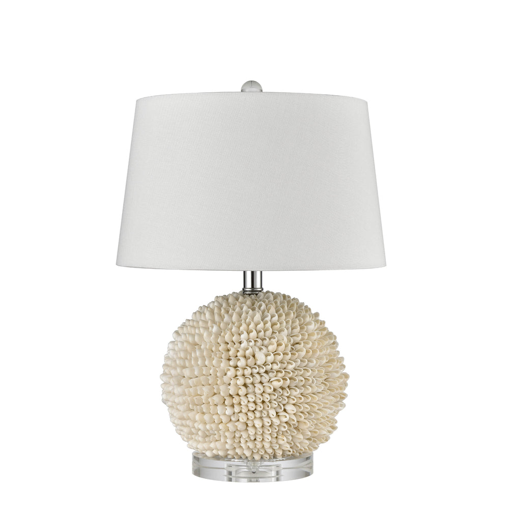 Palm Cove Lamp with White Shade