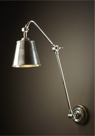 Cromwell Wall Lamp Antique Silver
