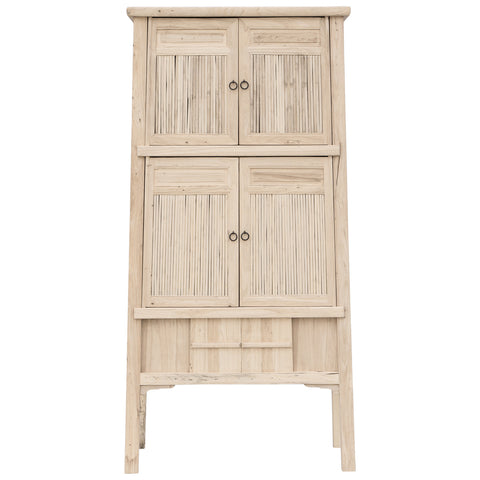Bamboo Tall Cabinet Blonde