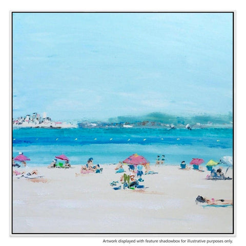 Cote D'Azur Canvas Painting with Floating Frame