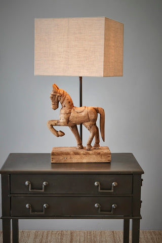Pharlap Wooden Horse Table Lamp