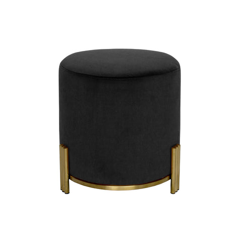 Paxton Ottoman/Low Stool Blush with Black Base