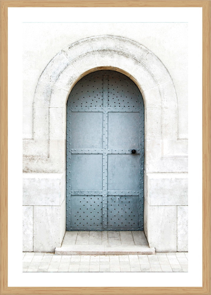 Blue Door Photographic Print with Frame