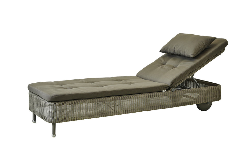 Presley Sunbed Taupe with Cushion Options