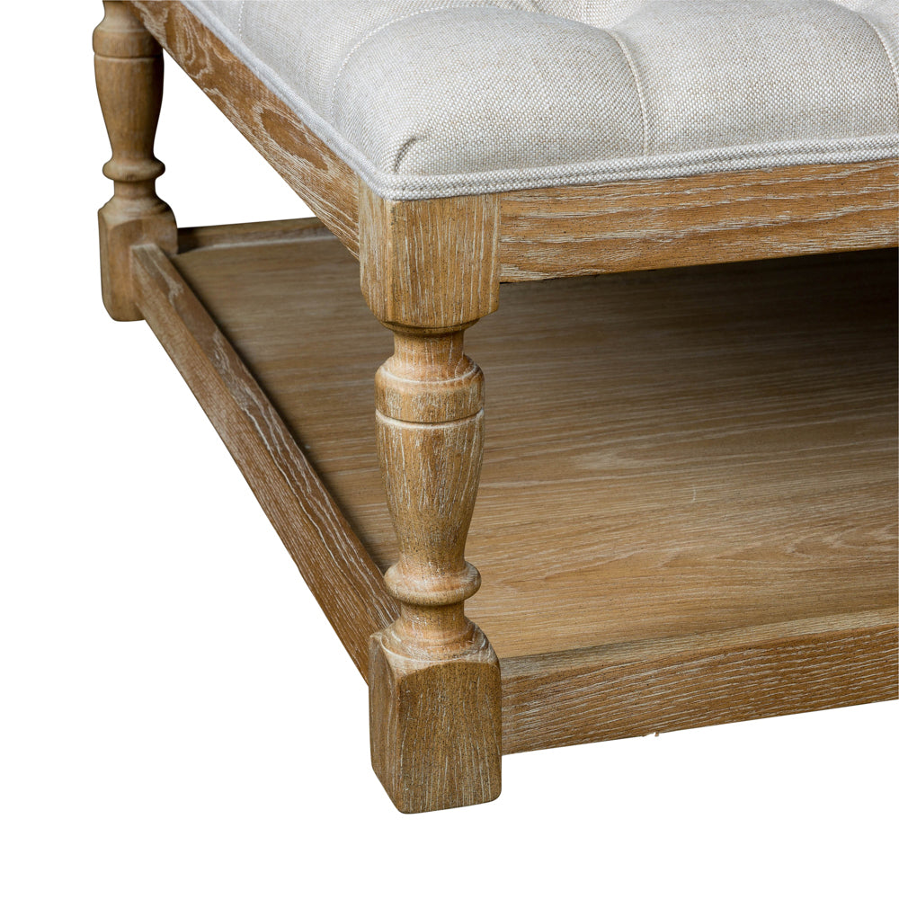 Tufted Coffee Table/Ottoman Beige
