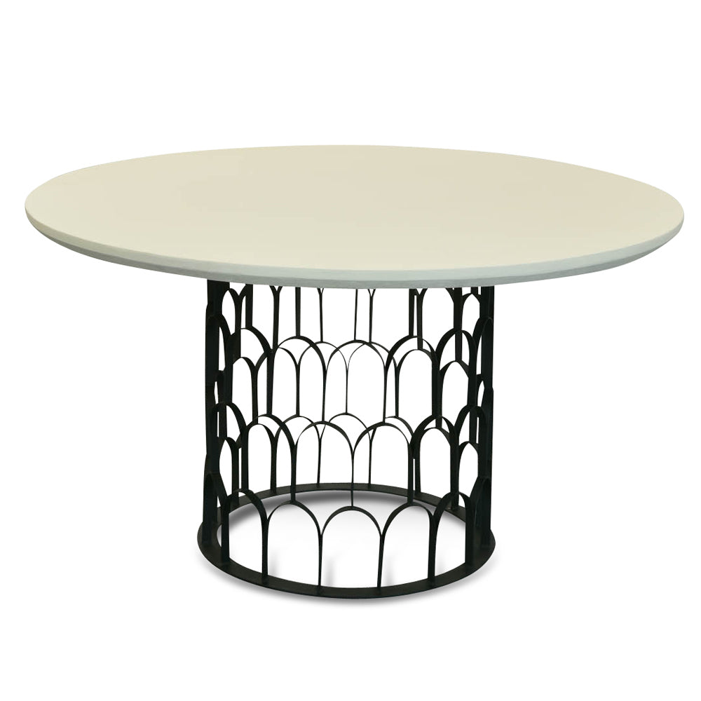 Taylor Concrete Dining Table White and Black