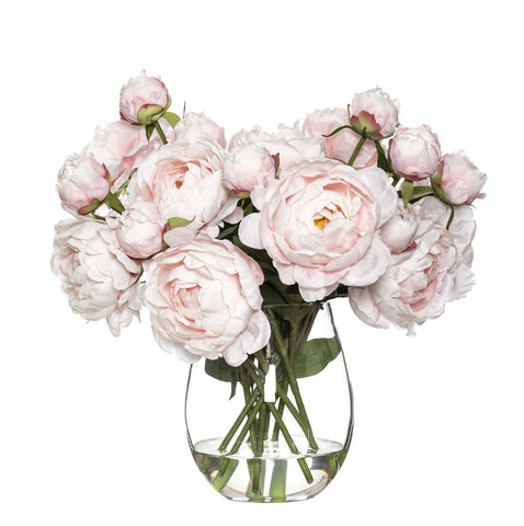 Peony in Claire Vase Pink 46cmH