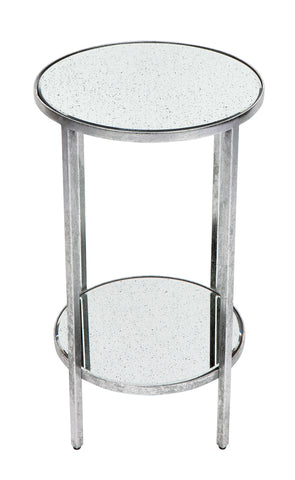 Cocktail Side Table Petite Antique Silver