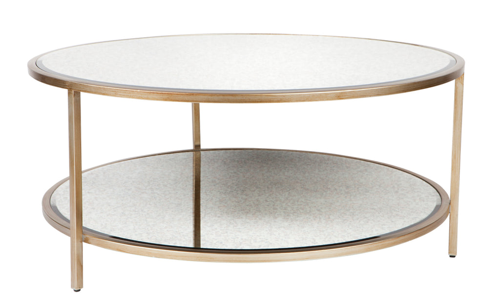 Cocktail Round Coffee Table Antique Gold Interiors Online
