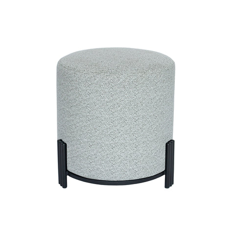 Paxton Ottoman/Low Stool Riva Grey with Black Base