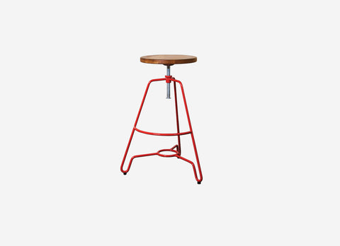 Industrial Low Stool Red