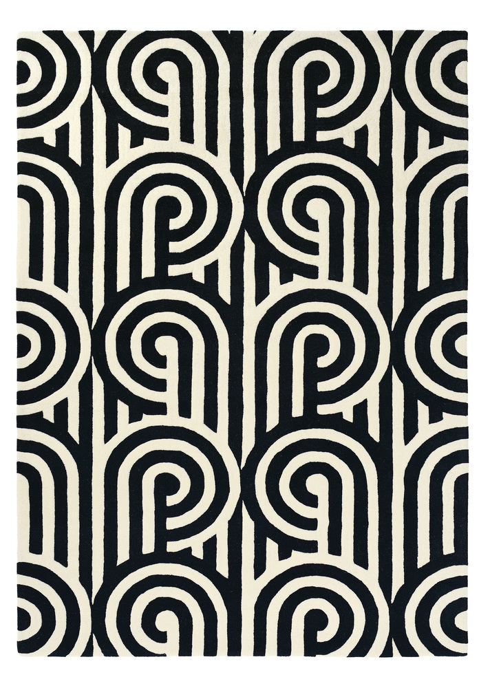 Florence Broadhurst Rug Turnabouts Black