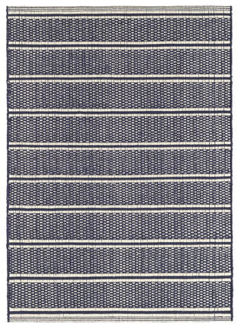 Archer Navy Cotton Rug