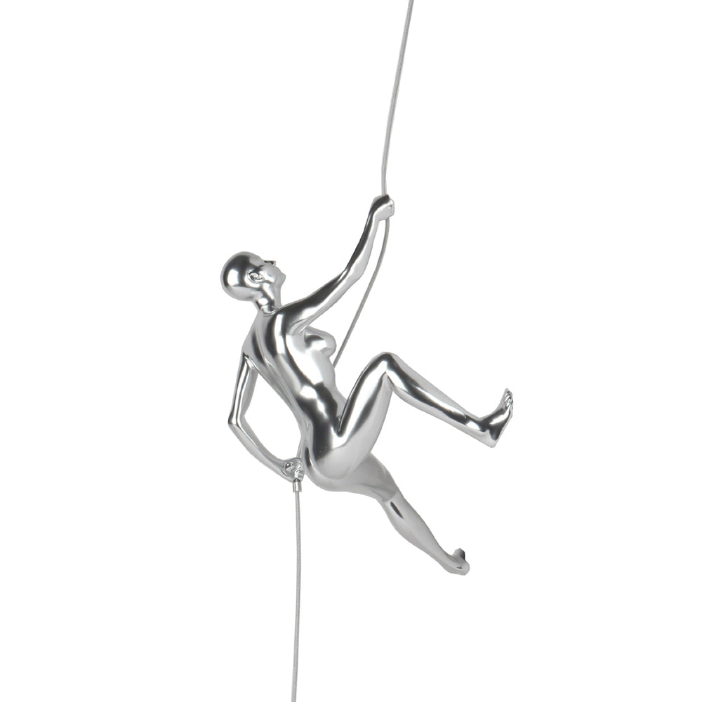 "Climbing Woman ""D"" Steel Finish"