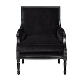 Alexander Arm Chair Black Black Velvet