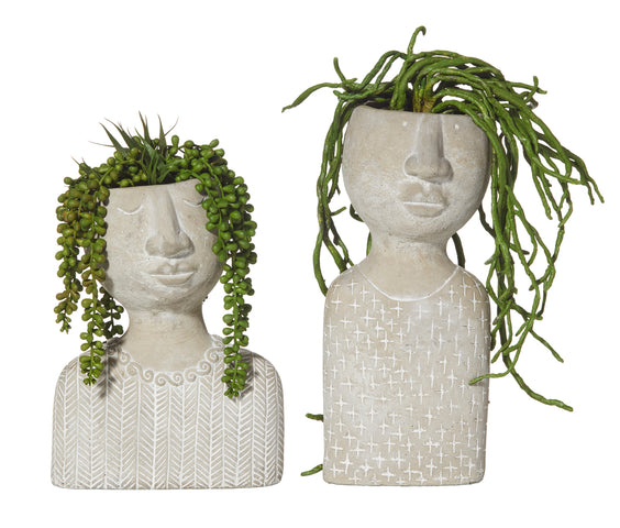 Emilie and Emile Hanging Succulents in Planters Set/2