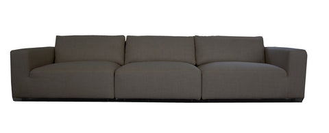 Harley L Shaped Sofa with Ottoman Light Grey