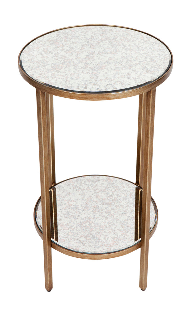 Cocktail Side Table Petite Antique Gold