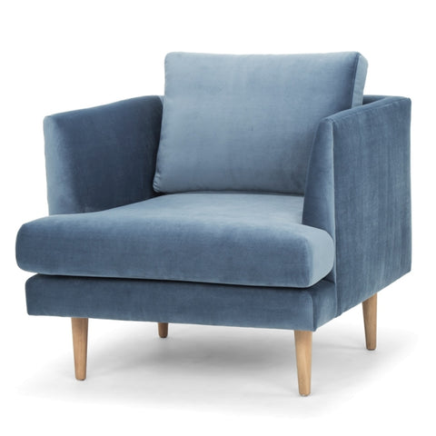 Roger Arm Chair Dust Blue