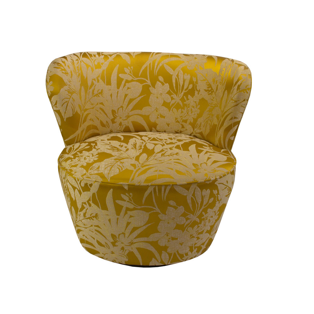 Maxwell Swivel Chair Gold Floral