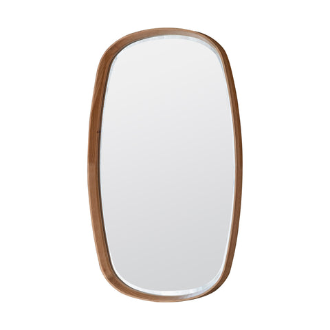Rise Walnut Round Mirror Small