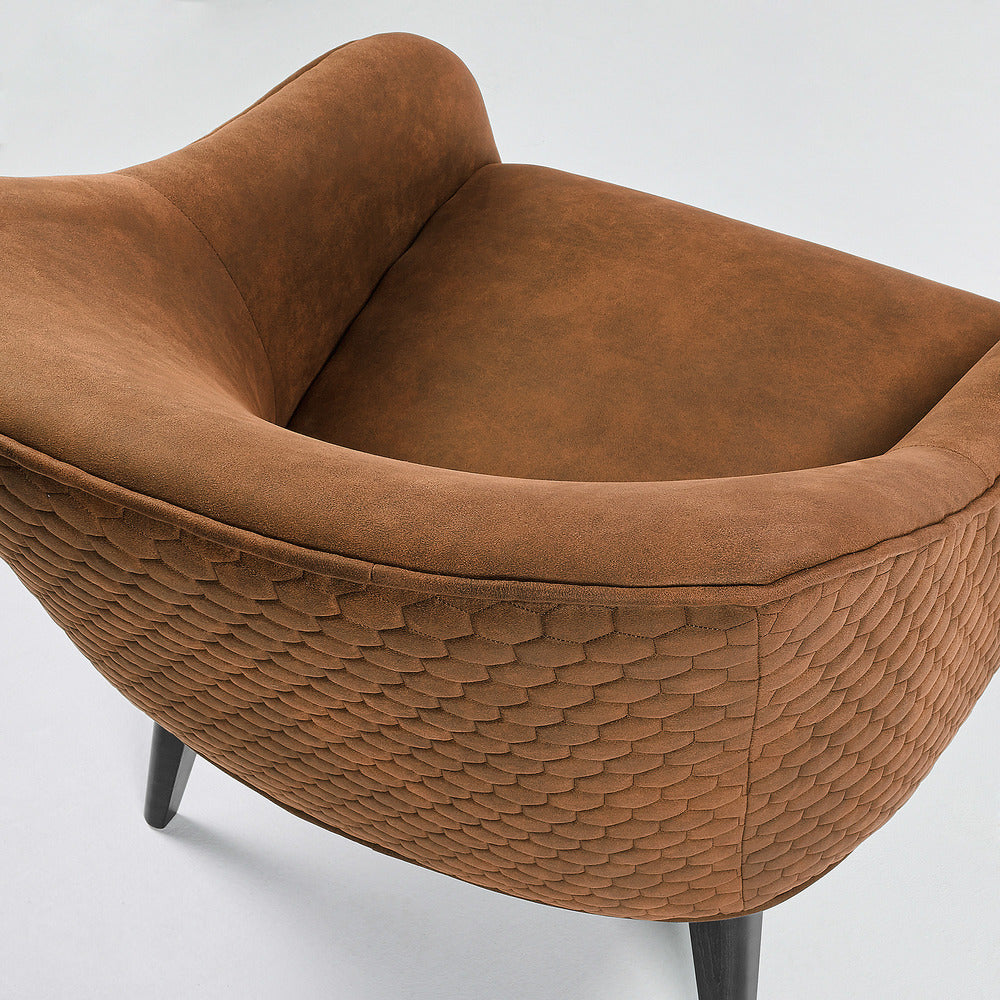 Lotus Arm Chair Oxide Brown