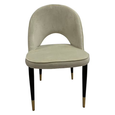 Guy Dining Chair Beige Velvet