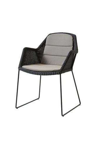 Breeze Stackable Dining Chair White Grey with Cushion Options