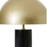 August Marble Table Lamp with Gold Shade