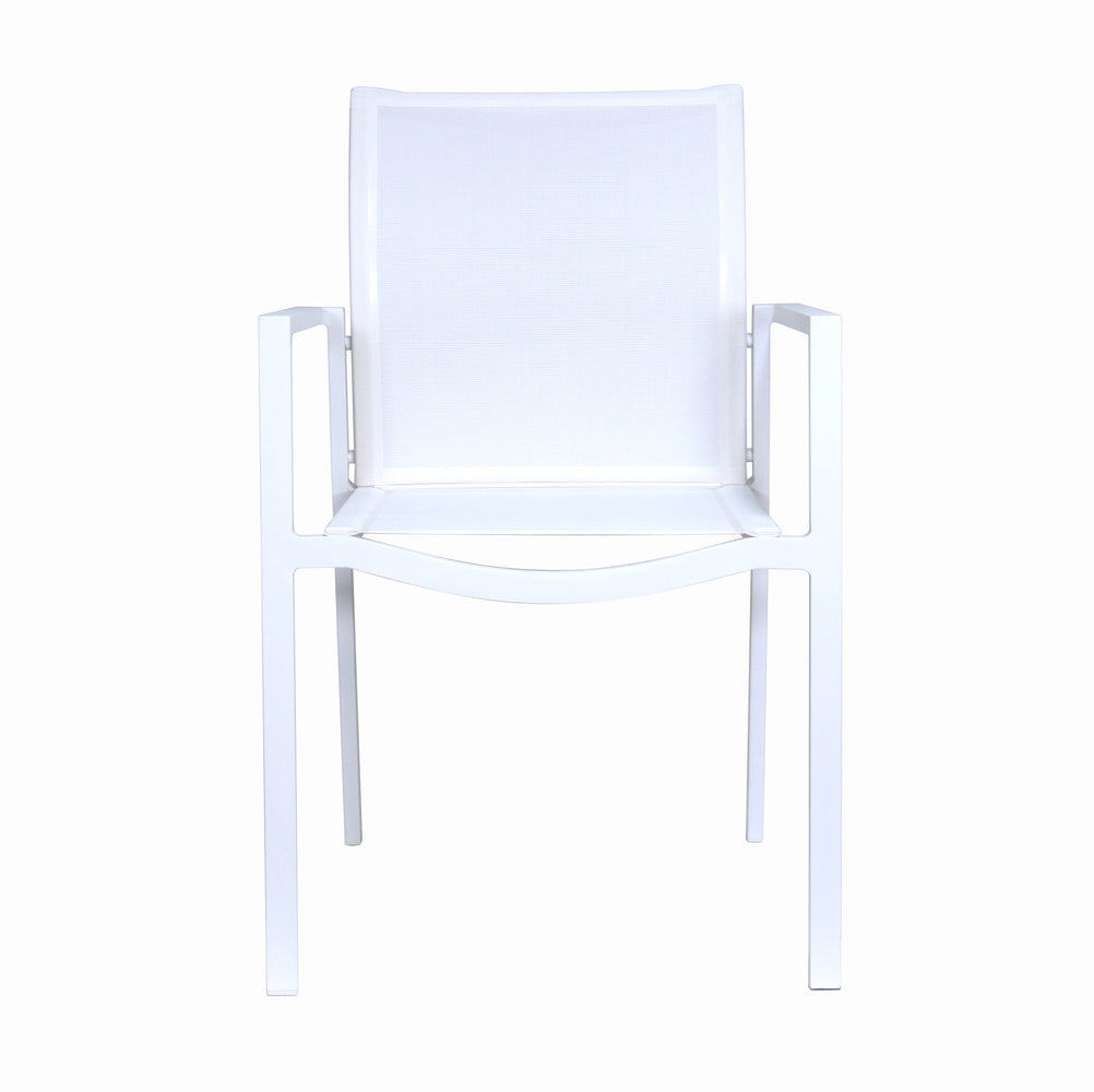 Male Lime Indoor/Outdoor Dining Chair White