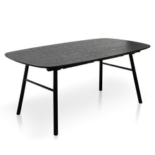 Hubert Black Ash Extension Dining Table