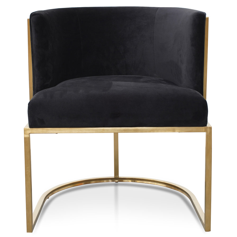 Blastow Occasional Chair Black Velvet
