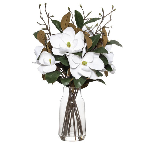 Magnolia Mix in Audrey Vase 89cmH