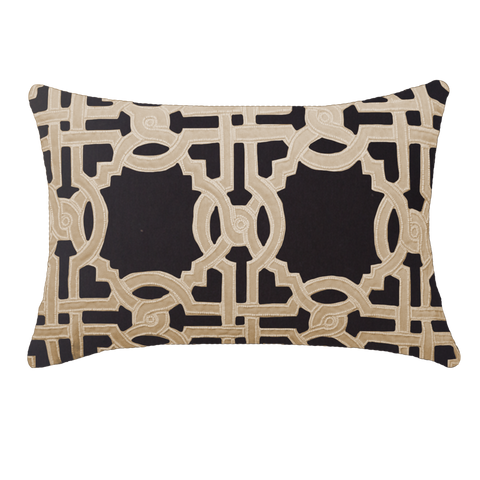 Intertwined Black Lounge Cushion
