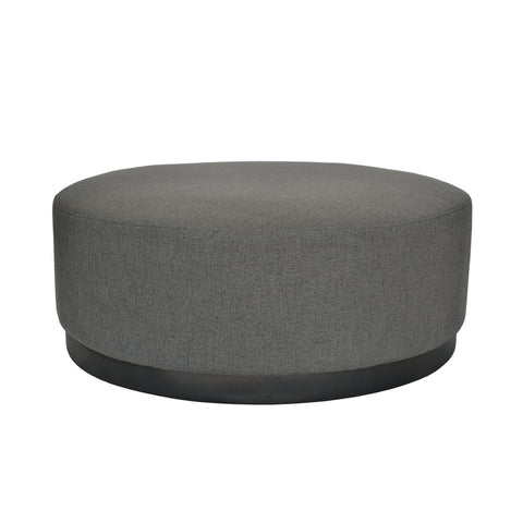 Tribeca Ottoman Charcoal with Dark Base Large