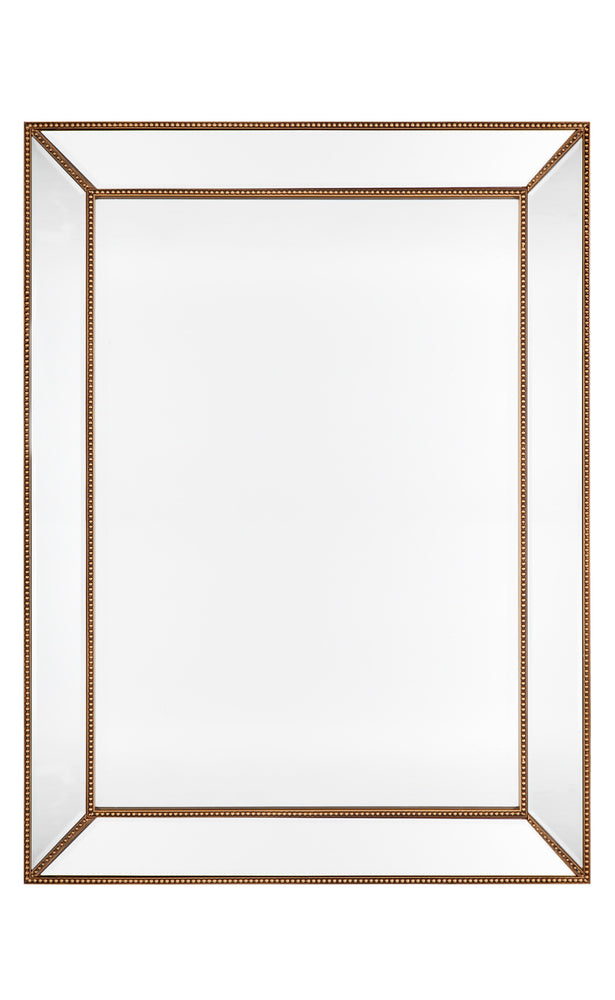 Zeta Wall Mirror Antique Gold Large