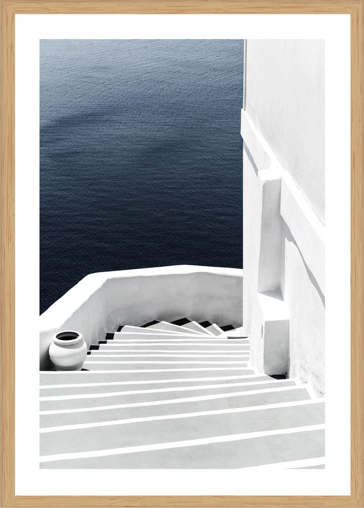 Minimal Staircase Photographic Print with Frame