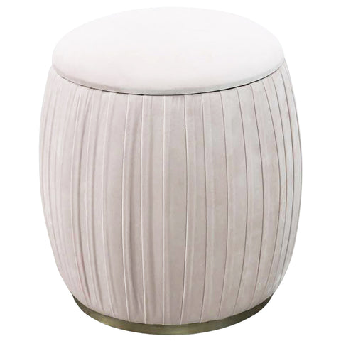 Morgan Low Storage Stool Blush